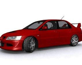 3D asset Mitsubishi Lancer Evolution VIII GSR
