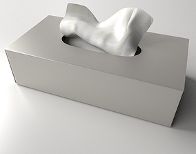 Tissue Box handkerchief 3D model