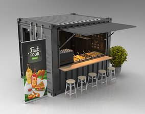 3D 10ft Container Kiosk