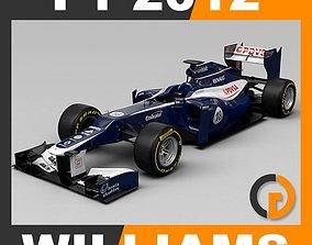 F1 2012 Williams FW34 car 3D model