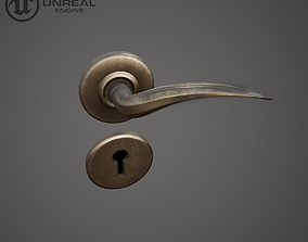 3D asset low-poly Door Handle