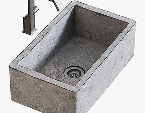 Sink Farmhouse Mixer Quadrodesign 3D