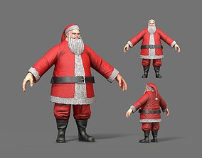 Santa Claus 3D model low-poly
