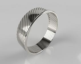 3D printable model Platinum ring 22mm 51 diagonal holes