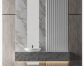 3D model Stunning natural stone bathroom