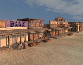 Old West Town AAA 3D model