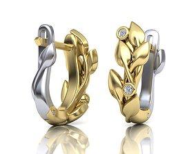 Leaves Earrings 3D print model
