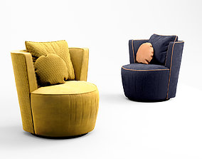Zuster Sapphire Swivel armchair 3D
