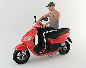 3D model Motorcyclist 1