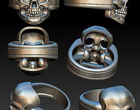 3D print model sculpting Skull ring