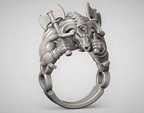 Zodiac Taurus ring 3D printable model sculpture
