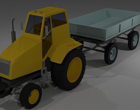 industrial Tractor 3D