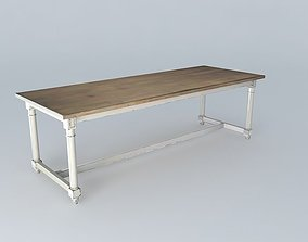 Dining table ST REMY houses the world 3D model