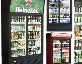 3D asset Showcase 001 Refrigerator