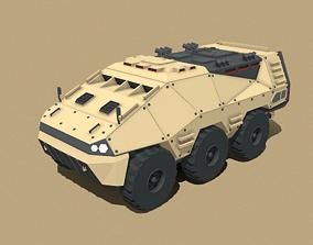 3D asset Amphibious APC Lowpoly