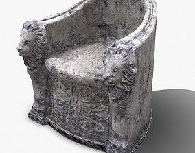 3D Roman Stone Chair High Poly
