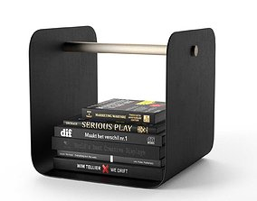 3D Flow Magazine Rack with Books simple