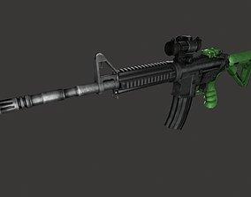 3D model M4 machine guns carbines submachine guns assault
