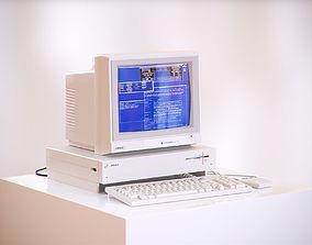 Old school computer 3D model