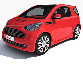 3D model Red Aston Martin Cygnet Vehicle