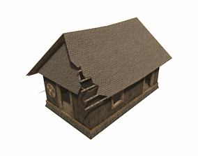 3D model Wooden House Game Ready