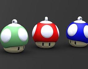 3D print model Mushroom 1up keychain