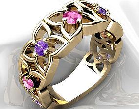3D printable model flower Flower Ring