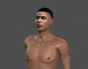 rigged low-poly Beautiful man -Rigged 3d character