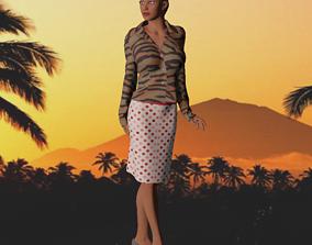 Tigerstripe Girl FREE 3D Model game-ready
