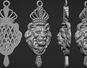 head lion with crown 3D printable model