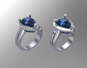 3D print model Pear diamond golden rings NN107