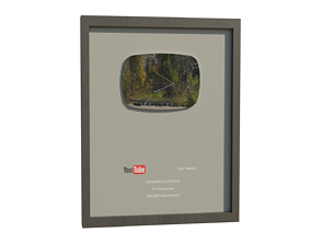 3D model Old YouTube Silver Play Button