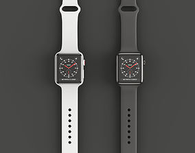 3D model Apple Watch Edition Series 3 42mm Sport Band 2