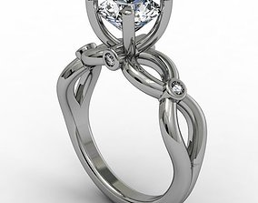 Fantasy braided engagement ring 3D print model