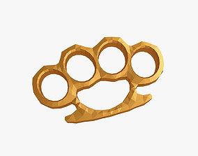 Brass knuckles 3D print model