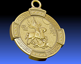 3D model PENDANT ST GEORGE AND THE DRAGON