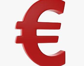 3D asset Euro Sign