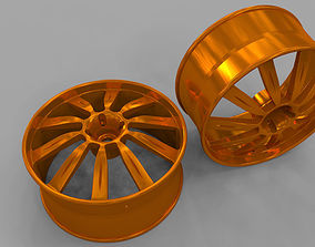 3D wheel car racing rim