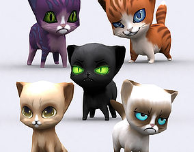 3DRT - Chibii Cats animated realtime