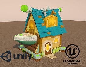 3D asset Cartoon lodge