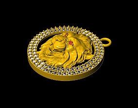 lion jewelry Pendant Lion 3D printable model