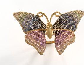 3D printable model Butterfly ring rings