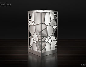 Voronoi lamp high quality version 3D printable model