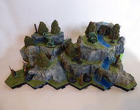 Hexagonille Terrain - Rocks 3D print model