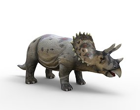 realtime Realistic Triceratops 3D Models game ready