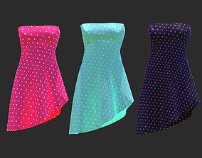 short dress 3D asset