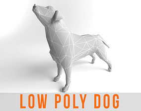 3D asset Dog Labrador Retriever Low Poly Game Ready