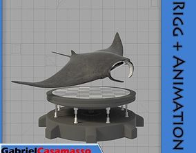 3D Manta Ray
