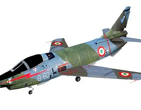Lowpoly Fiat G91Y Aircraft 3D model