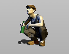 3D print model Hooligan punk gopnik